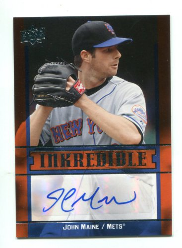 JOHN MAINE 2009 Upper Deck Inkredible #JM New York NY METS