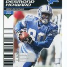 DESMOND HOWARD 2002 NFL Showdown #110 Michigan Wolverines DETROIT LIONS