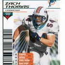 ZACH THOMAS 2002 NFL Showdown GOLD FOIL SP #167 Texas Tech DOLPHINS