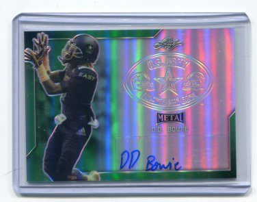 D.D. DD BOWIE 2017 Leaf Army All-American AUTO GREEN Ole Miss WR #d/10
