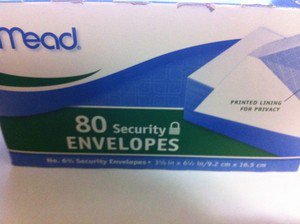 Plain Letter  Mailing Envelopes W/ Security Lining Business Office 80pk