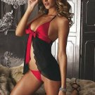 sexy baby doll dress with gstring clothing for women new set black  and Red