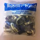 New Bag 1/2 Pound Of Assorted Rubber Bands 227 Grams Assorted Sizes
