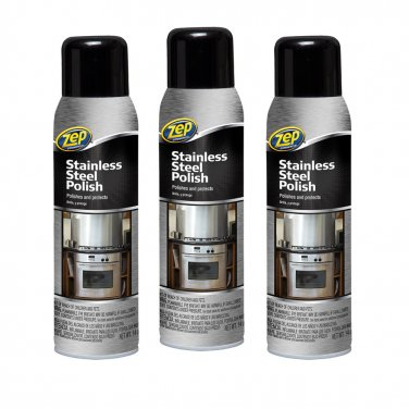 Zep Stainless Steel Cleaner 3 bottles Stainless Steel Polish and Cleaner