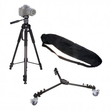 Professional Photography Kit, With Tripod, Dolly With Wheels