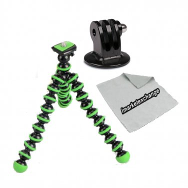 Green Gripster Tripod for GoPro Hero 3, 3+, Hero 4 and More