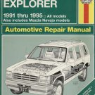 FORD EXPLORER 1991-1995 AUTOMOTIVE REPAIR MANUAL