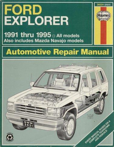 FORD EXPLORER 1991-1995 AUTOMOTIVE REPAIR MANUAL