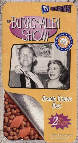 THE BURNS AND ALLEN SHOW--GRACIE KNOWS BEST--VHS