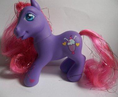 Fizzy Pop purple pink hair My Little Pony G3 shimmer tinsel milkshake symbol