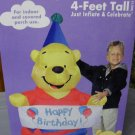 Winnie the Pooh Gemmy Airblown Inflatable Happy Birthday