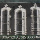 International Silver 3 pc Espresso Shaker Set