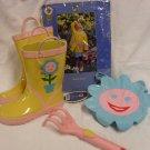 Garden Place Kid's Flower Raincoat & Boots Set