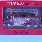Timex Firefighter Fire Truck Mini Clock