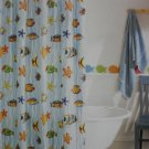 Home Happy Fish Fabric Shower Curtain