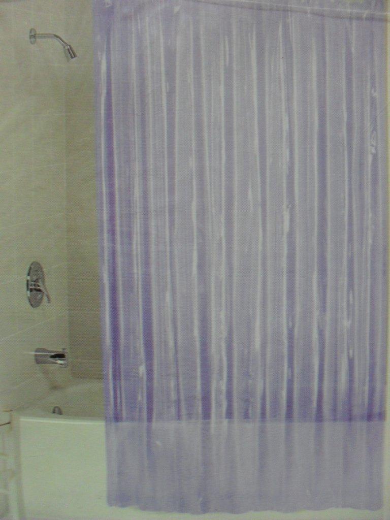 Home Purple Vinyl Shower Curtain