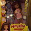 Playmates Amazing Little Friends Jenna Black Doll Mint!
