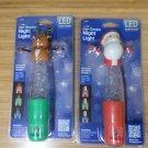 Jasco LED Color Change Night Light Set of 2 - Santa & Deer