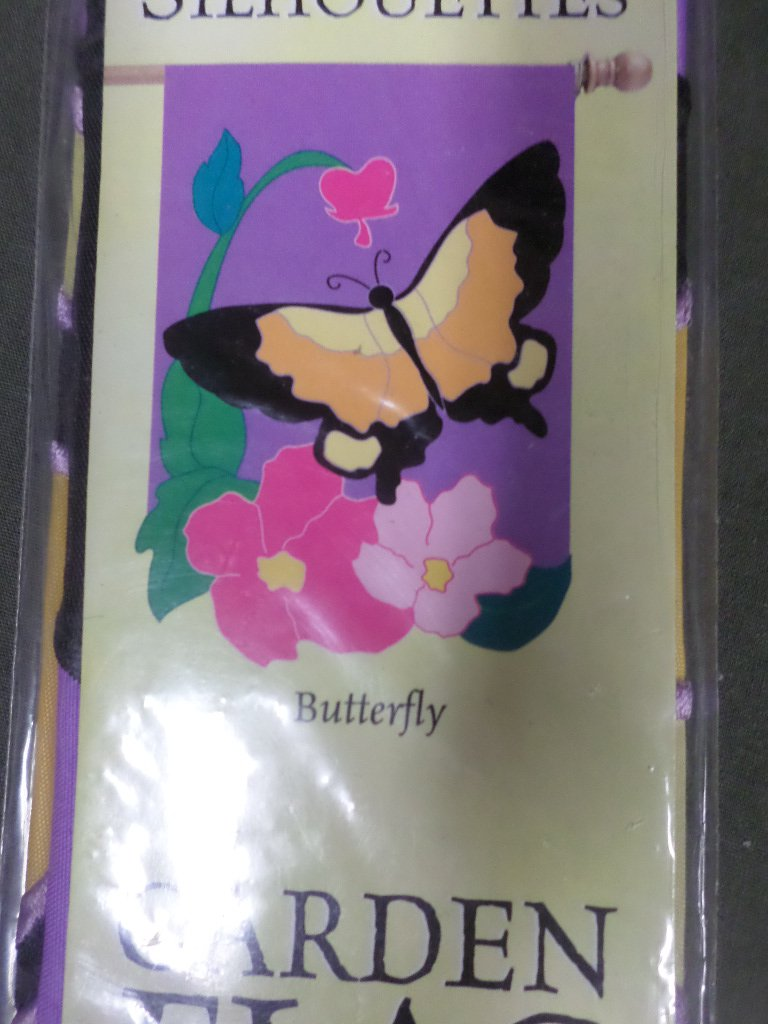 Spring Butterfly Decorative Applique Flag