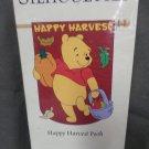 Happy Harvest Winnie the Pooh Decorative Applique Flag