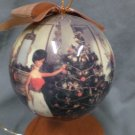 Barbie Vintage Hoilday Styrofoam Ball Ornaments - Set of 5