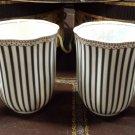 Grace Teaware Scallop Navy Set 2 Cups