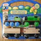 Thomas the Tank & Percy's Easter Celebration Real Wood Train Car Engine Set