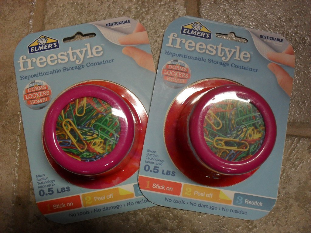 Elmer's Freestyle Storage Containers - 2 Watercolor Pink, E6345