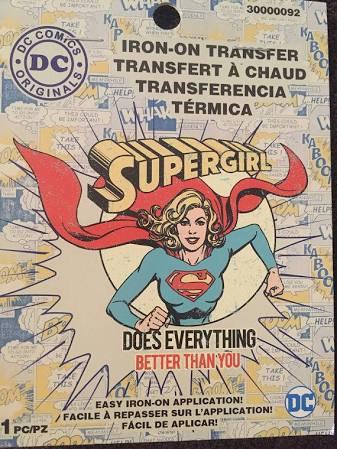 DC Comics Supergirl Iron-on Transfer