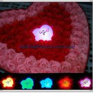 99 scented soap roses with LED light