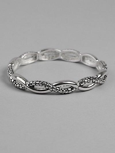 Silver Wave Design Bracelet - BBsw