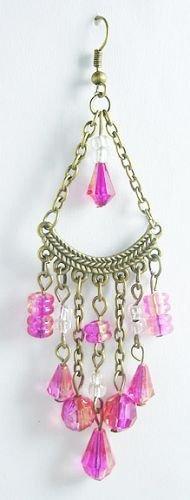 Pink Bead Artisan Earrings - BBpb