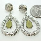 Designer Inspired Green Stone Earrings - BBgs