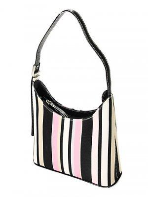 Designer Inspired Striped Handbag - BBbp