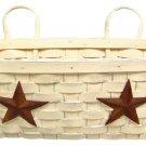 Star Wall Basket - Antique White - GJHE4933M