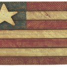 Painted Wood American Flag - 10 x 15 Inch - CWGJHE4729
