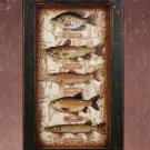 WOOD FISHING FISH SHADOW BOX - MM33936