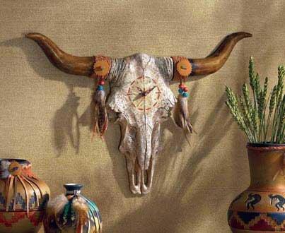 Bulls Skull Wall Clock - MM35151