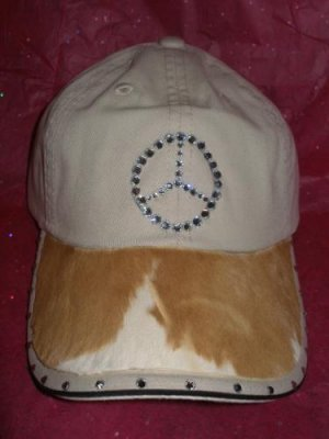 Khaki Baseball Cap - Brown & White/Mercedes - JGbwm