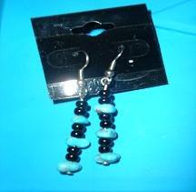 SALE! Turqouise Beaded Dangly Earrings - CGtb