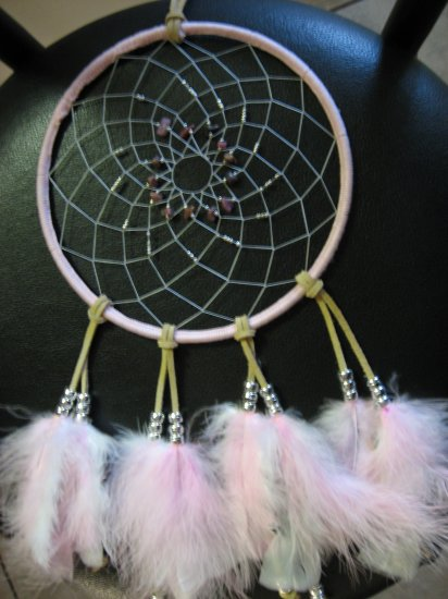 Pink Rhodonite Dreamcatcher - LTprd