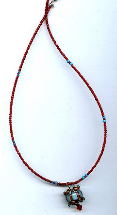 Crown Bead Necklace - EAcbn