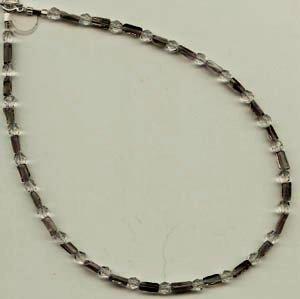 Smokey Quartz & Crystal Necklace - EAsqn