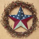 Americana Star & Grapevine Wreath - CWGJHE5360