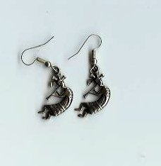 Silver Kokopelli Earrings - EAske