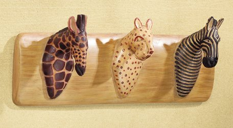 SAFARI ANIMAL COAT HANGER- MM34761