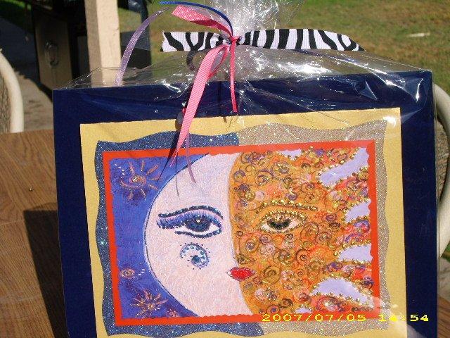 Sun & Moon Greeting Card 5x7 & Charm - IAsm57