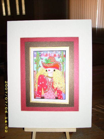 Cowgirl in Red 9 x 11 - IAcr911