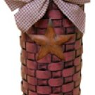 Long John Barn Star Basket - Burgundy - CWI - GJHE5448G