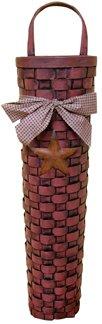 Long John Barn Star Basket - Burgundy - CWI - GJHE5448G
